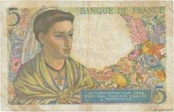 5 Francs BERGER FRANCE  1943 F.05.01 TB