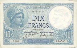 10 Francs MINERVE FRANCE  1924 F.06.08 TTB+