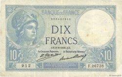 10 Francs MINERVE FRANCE  1926 F.06.11 TB+