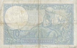 10 Francs MINERVE modifié FRANCE  1939 F.07.02 TB