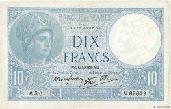 10 Francs MINERVE modifié FRANCE  1939 F.07.02 TTB+