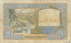 20 Francs SCIENCE ET TRAVAIL FRANCE  1940 F.12.02 B+