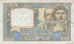 20 Francs SCIENCE ET TRAVAIL FRANCE  1940 F.12.10 TTB+