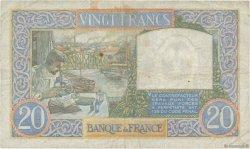 20 Francs SCIENCE ET TRAVAIL FRANCE  1941 F.12.18 pr.TTB