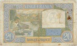 20 Francs SCIENCE ET TRAVAIL FRANCE  1941 F.12.18 B