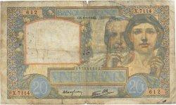 20 Francs SCIENCE ET TRAVAIL FRANCE  1942 F.12.21 B