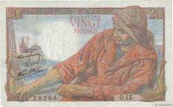 20 Francs PÊCHEUR FRANCE  1942 F.13.02 TTB