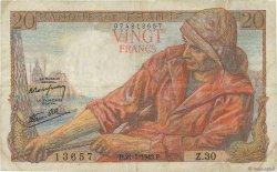 20 Francs PÊCHEUR FRANCE  1942 F.13.02 TB
