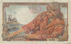 20 Francs PÊCHEUR FRANCE  1942 F.13.03 pr.TTB