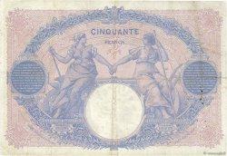 50 Francs BLEU ET ROSE FRANCE  1913 F.14.26 TTB