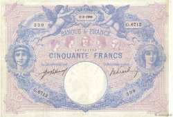50 Francs BLEU ET ROSE FRANCE  1916 F.14.29 TB