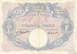 50 Francs BLEU ET ROSE FRANCE  1924 F.14.37 TB