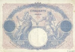 50 Francs BLEU ET ROSE FRANCE  1927 F.14.40 TTB