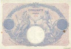 50 Francs BLEU ET ROSE FRANCE  1927 F.14.40 pr.TTB