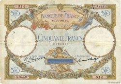 50 Francs LUC OLIVIER MERSON type modifié FRANCE  1931 F.16.02 B