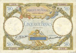 50 Francs LUC OLIVIER MERSON type modifié FRANCE  1931 F.16.02 TB