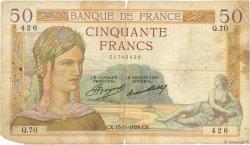50 Francs CÉRÈS FRANCE  1934 F.17.01 B