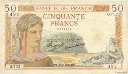 50 Francs CÉRÈS FRANCE  1935 F.17.05 TTB