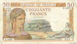 50 Francs CÉRÈS FRANCE  1935 F.17.06 TB+