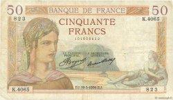 50 Francs CÉRÈS FRANCE  1936 F.17.23 TB+