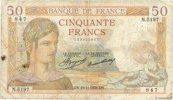 50 Francs CÉRÈS FRANCE  1936 F.17.31 B