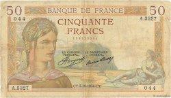50 Francs CÉRÈS FRANCE  1936 F.17.32 B