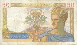 50 Francs CÉRÈS modifié FRANCE  1937 F.18.05 TB