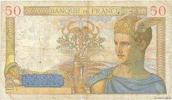 50 Francs CÉRÈS modifié FRANCE  1938 F.18.07 B+