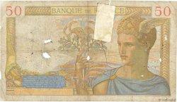 50 Francs CÉRÈS modifié FRANCE  1938 F.18.08 AB