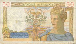 50 Francs CÉRÈS modifié FRANCE  1939 F.18.23 TB
