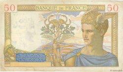 50 Francs CÉRÈS modifié FRANCE  1939 F.18.24 TB+