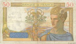 50 Francs CÉRÈS modifié FRANCE  1939 F.18.26 TB