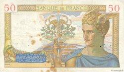 50 Francs CÉRÈS modifié FRANCE  1940 F.18.38 TTB