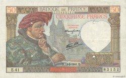 50 Francs JACQUES CŒUR FRANCE  1941 F.19.06 TB+