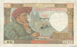 50 Francs JACQUES CŒUR FRANCE  1941 F.19.11 TB+
