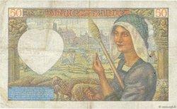50 Francs JACQUES CŒUR FRANCE  1941 F.19.12 TB