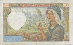 50 Francs JACQUES CŒUR FRANCE  1941 F.19.17 TTB
