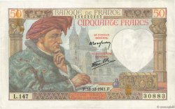 50 Francs JACQUES CŒUR FRANCE  1941 F.19.17 TTB+