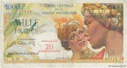 20 NF sur 1000 Francs Union Française SAINT PIERRE ET MIQUELON  1964 P.34 pr.TTB