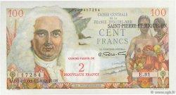 2 NF sur 100 F La Bourdonnais SAINT PIERRE ET MIQUELON  1960 P.32 NEUF