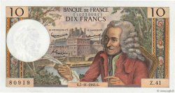 10 Francs VOLTAIRE FRANCE  1963 F.62.03 SUP