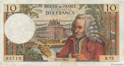 10 Francs VOLTAIRE FRANCE  1964 F.62.08 TB