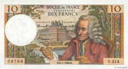 10 Francs VOLTAIRE FRANCE  1966 F.62.19 TTB