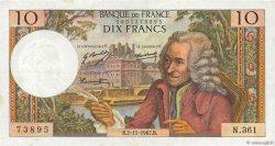 10 Francs VOLTAIRE FRANCE  1967 F.62.29 TTB+