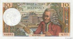 10 Francs VOLTAIRE FRANCE  1972 F.62.56 pr.SUP