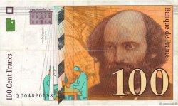 100 Francs CÉZANNE FRANCE  1997 F.74.01 pr.TTB