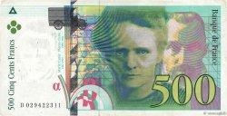 500 Francs PIERRE ET MARIE CURIE FRANCE  1994 F.76.01 TB+