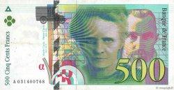 500 Francs PIERRE ET MARIE CURIE FRANCE  1995 F.76.02 TB+