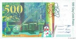 500 Francs PIERRE ET MARIE CURIE FRANCE  1996 F.76.03 NEUF