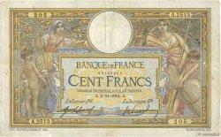 100 Francs LUC OLIVIER MERSON sans LOM FRANCE  1914 F.23.06 B+